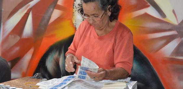 Vendedora de lotería